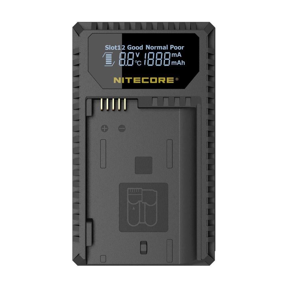Nitecore UNK1 Digital USB Charger for Nikon Batteries EN-EL14, EN-EL14a, EN-EL15 - Compatible with Nikon Coolpix, 1V1, P, D Series