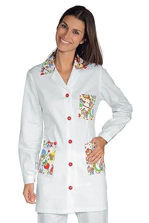 Isacco-túnica médica Marbella, Color Blanco, 100% algodón, diseño de Sonrisa