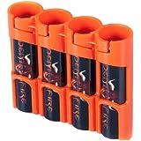 Storacell SL18650ORG by Powerpax SlimLine 18650 Battery Caddy, Orange, Holds 4 Batteries