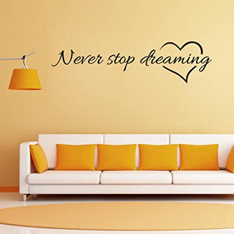 Amazon.com: Staron Never Stop Dreaming Wall Stickers,Removable Wall ...