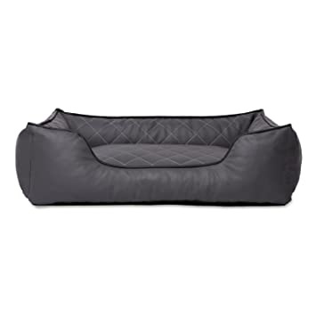 dibea Premium Dog bed DB00190, Cama para perros, en imitación de piel, Gris, S (65 X 45 cm): Amazon.es: Productos para mascotas