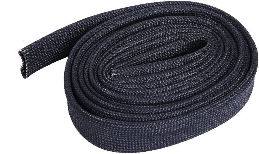 Hiwow 5FT Heat Sleeve Fiberglass Adjustable Heat Shield Sleeve Black Color 1//2 5FT X 13MM
