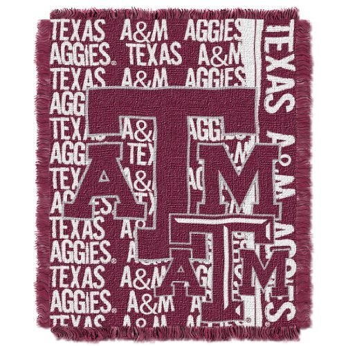 Texas A&m Aggies Woven Jacquard - The Northwest Company NCAA Texas A&M Aggies Double Play Jacquard Throw, 48