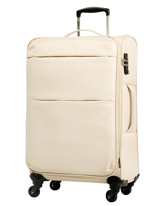 [グリフィンランド]_Griffinland TSAロック搭載 スーツケース ソフトタイプ  超軽量 AIR6327(solite) ファスナー開閉式 S型国内国際線機内持込可 5色3サイズ B01MXOGWN0 S(小)型|ベージュ ベージュ S(小)型