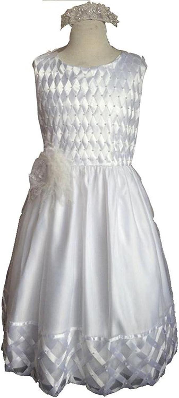 Newdeve Babygirls Special Occasion Dresses Christening Dress Baptism Gowns