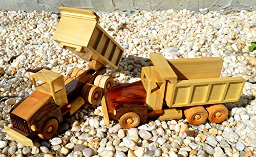Unique Handmade Wooden Dump Truck Toy