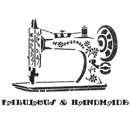 J BOUTIQUE plantillas para máquina de coser Vintage plantilla para Manualidades DIY pared muebles