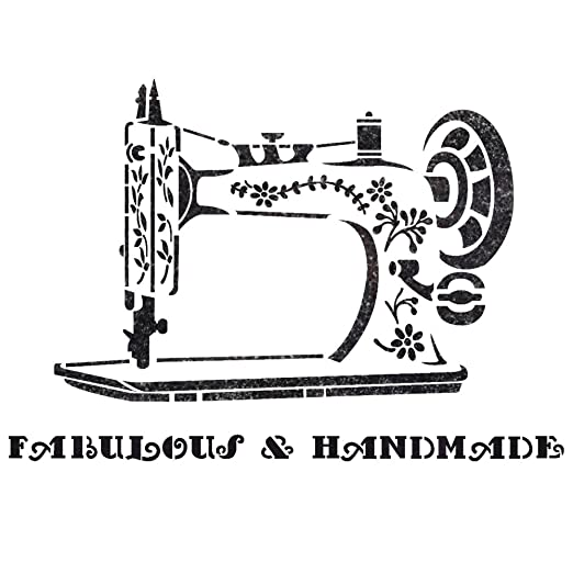 Amazon.com: J BOUTIQUE STENCILS Vintage Sewing Machine Stencil for Crafting DIY Wall decor furniture