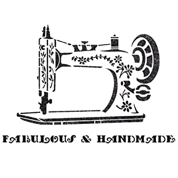 J BOUTIQUE STENCILS Vintage Sewing Machine Stencil for Crafting DIY Wall decor furniture