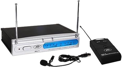 Marca nueva Peavey PV-1 U1 BL 911.70 MHz UHF lavalier micrófono inalámbrico de la