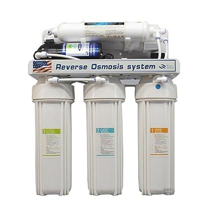 Vogvigo Sistema de filtración de agua potable por ósmosis inversa de 5 etapas debajo del fregadero