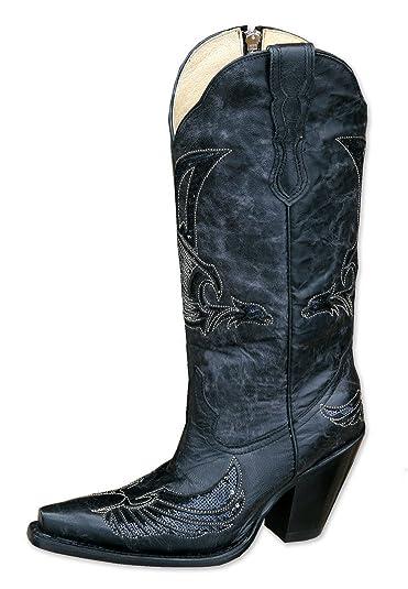 Stars & Stripes Western Boots WBL 21 black Size: 6.5