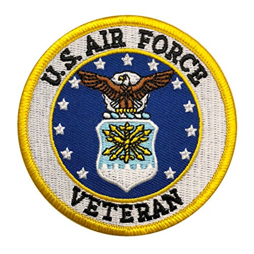 Veteran Air Force Patch Iron on sew on 3 inch (AFV1) (Air Force Patch)