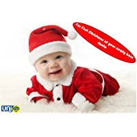 UNIq Baby Christmas Party Santa Costume Suit Outfits Set Toddler Kids 1 to 12 months old Boys Girls Xmas Santa My First Christmas Clothes. For First Christmas celebration of your newly Born Prince & Princess. (1 Month - 12 Months)