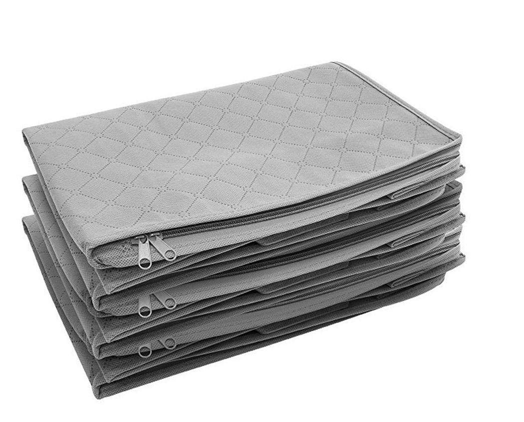 Bedding Foldable Zipper Quilt Organizer Duvets Space Saving for Blankets Wekold Large Capacity Storage Bag Clothes
