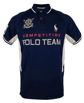 Polo Ralph Lauren Men\u0027s Black Watch Custom-Fit Pieced Polo Shirt (Medium,  Navy