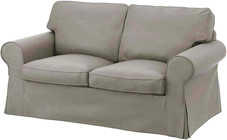 Cubierta / Funda solamente! ¡El sofá no está incluido! El algodón Ektorp Loveseat funda de recambio es fabricada a medida para IKEA EKTORP sofá, Cover, un Ektorp funda protectora de repuesto