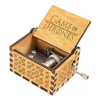 Cooshional Caja de Musica Juego de Tronos Estilo Retro de Madera Tallada a Mano: Amazon.es: Juguetes y juegos