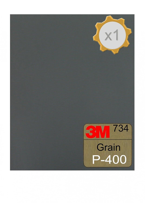 1 unidad grano 400 Papel de lija al agua 3M 734 230 x 280 mm