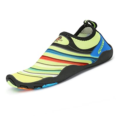 dab91a24b7e957 SAGUARO Barefoot Aqua Water Beach Pool Shoes Mesh Swim Skin Socks  Lightweight Walking Wet Shoes for