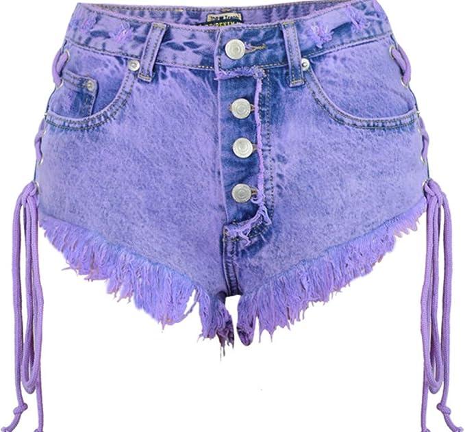 Suelta Mini Jeans Shorts Mujeres, Ambas Corbatas Mini Short Sexy ...