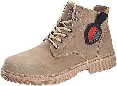 LXHK Hombre Mujer Zapatos de Seguridad S3 SRC Zapatillas de Trabajo de Cuero con Punta de Acero Negro Cordones Antideslizante Calzado de Protección de Senderismo Al Aire Libre: Amazon.es: Zapatos y complementos