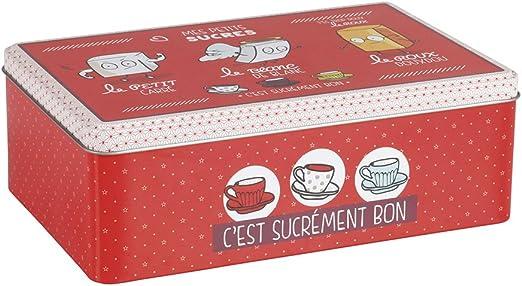 Delys-By-Verceral Caja metálica para azucar, Metal, Multicolor, 20 ...