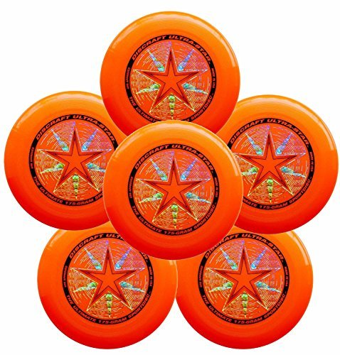 Discraft Ultra-Star 175g Ultimate Frisbee Sport Disc (6 Pack) Orange by Discraft