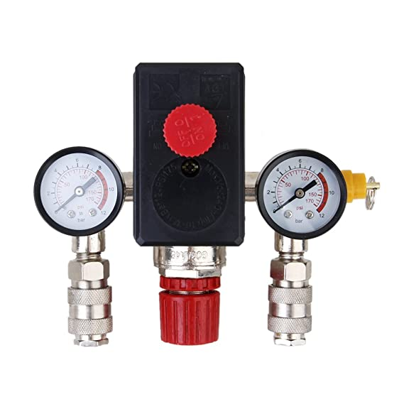 Interruptor de Presión Compresor de Aire Válvula de Sg-3: Amazon.es: Bricolaje y herramientas