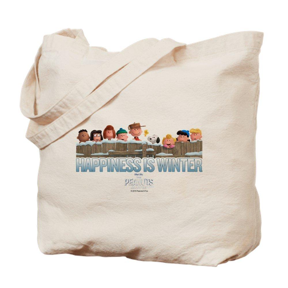 CafePress – 幸福は冬 – ナチュラルキャンバストートバッグ、布ショッピングバッグ B01LIV9VBI