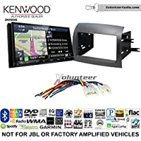 Volunteer Audio Kenwood Excelon DNX994S Double Din Radio Install Kit with GPS Navigation Apple CarPlay Android Auto Fits 2004-2010 Non Amplified Toyota Sienna