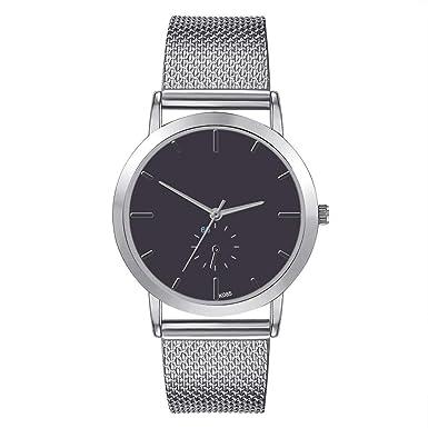 DressLksnf Reloj Lujo Moda de Mujer Pulsera Original Acero Inoxidable Durable Correa de Metal Digital Clásico Banda de Reloj Cadena Ajuste Simple: ...