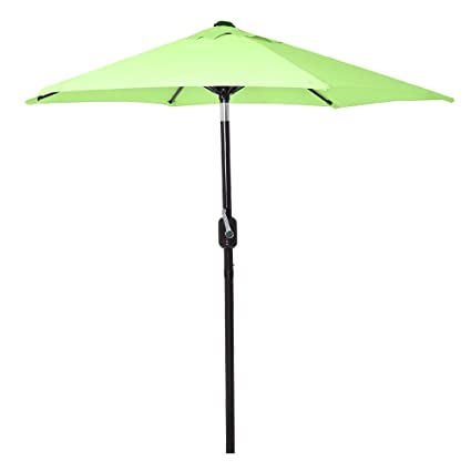 High Quality 6 Ft Outdoor Patio Umbrella With Aluminum Pole, Easy Open/Close Crank And  Push