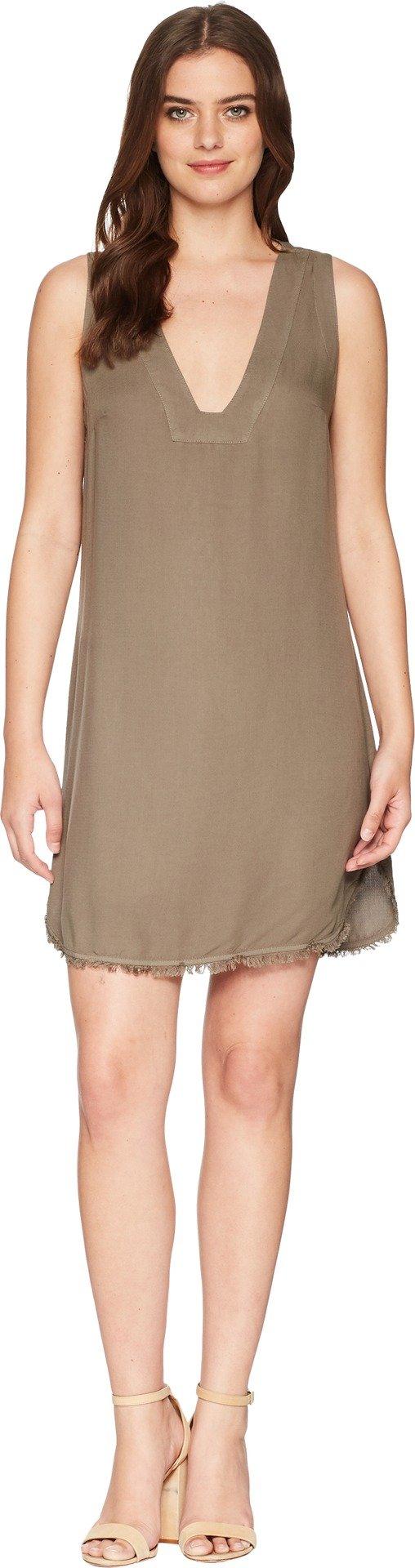 Splendid Women's Vneck Tunic Dress, Military Olive, M