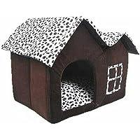 JYSPORT Pet House Haut de Gamme Marron café Nid Chaud pour Chien Chat lit