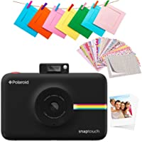 "Polaroid SNAP Touch 2.0 – 13MP Portable Instant Digital Camera with Built-In Bluetooth, LCD Touchscreen Display. Prints in 2x3"" Sticky-Backed Zink Paper - Black"
