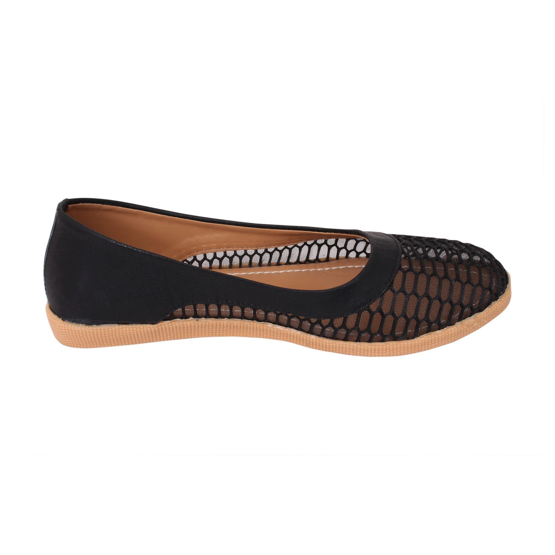 SARGAM Women Shoe:Women Netted Ballerina In Black (9): Amazon.co.uk: Shoes  & Bags
