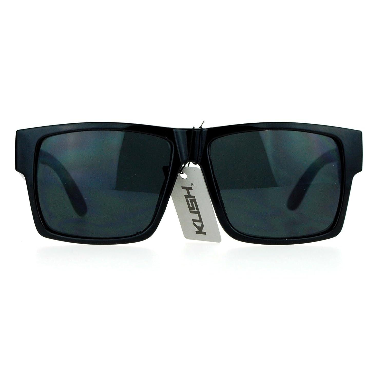 Amazon.com: Kush anteojos de sol cuadrado Retangular marco ...