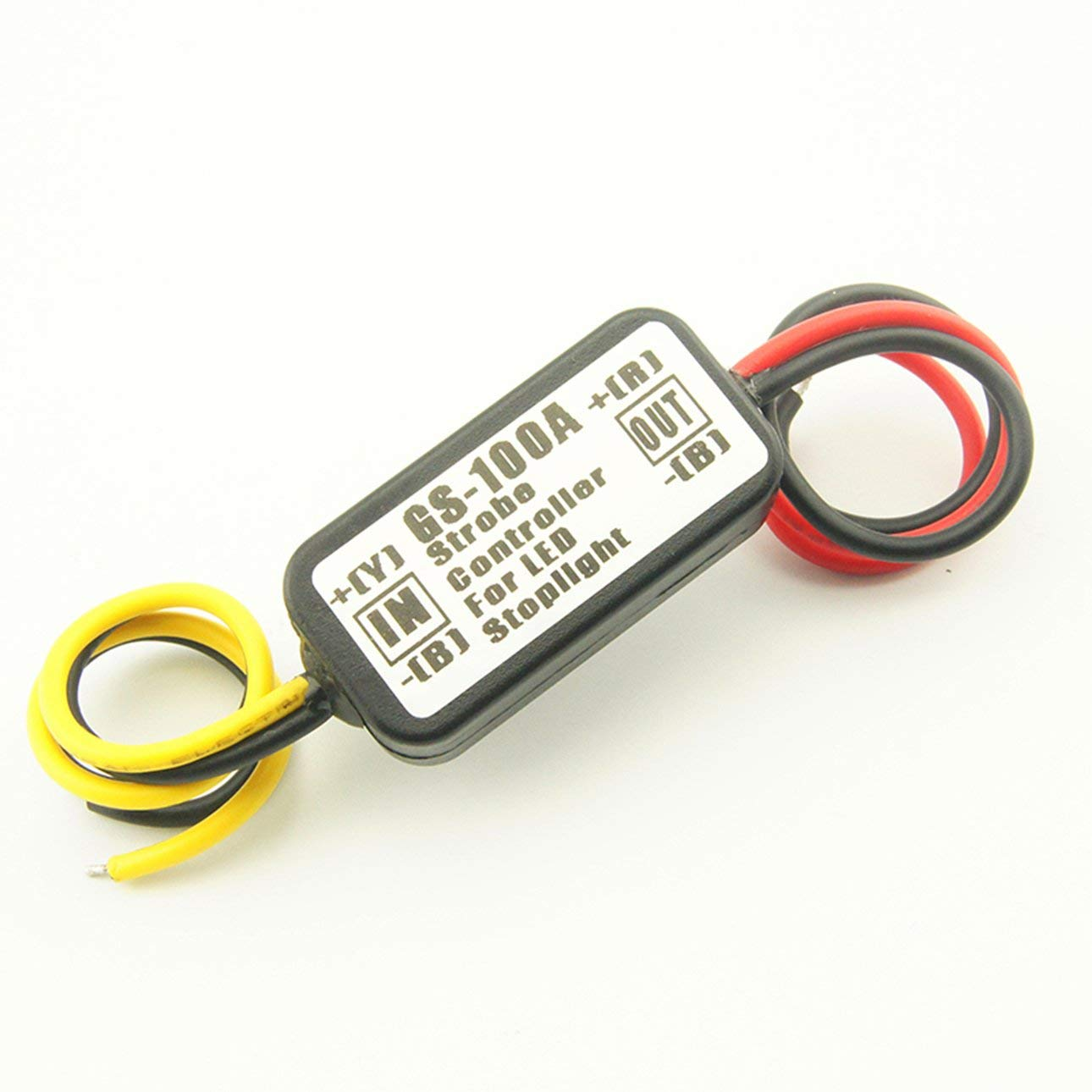 GS-100A Super Bright Portable Size Car Motorcycles LED Brake Stop Light Strobe Flash Flashing Controller Box Black
