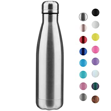 Amazon.com: Botella de agua de acero inoxidable sin BPA, a ...