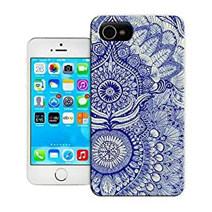 Unique Phone Case Exquisite art pattern blue Hard Cover for 5.5 inches iphone 6 plus cases-buythecase
