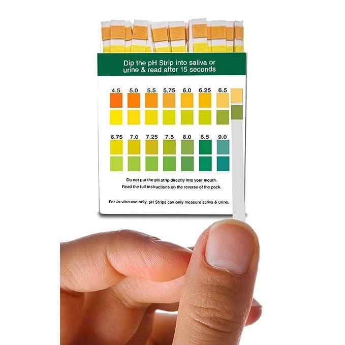 Simplex Salud Ph Test Bandas para Orina y Saliva (100 strips): Amazon.es: Electrónica