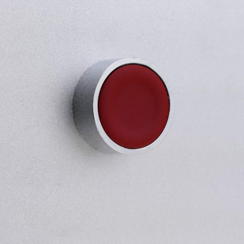 Pulsador moment/áneo 22mm 1NO 1NC 400V 10A normal cerrado y normal abierto rojo BeMatik