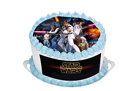 Star Wars 95 Inch Round Circular Edible Cake Topper Decoration