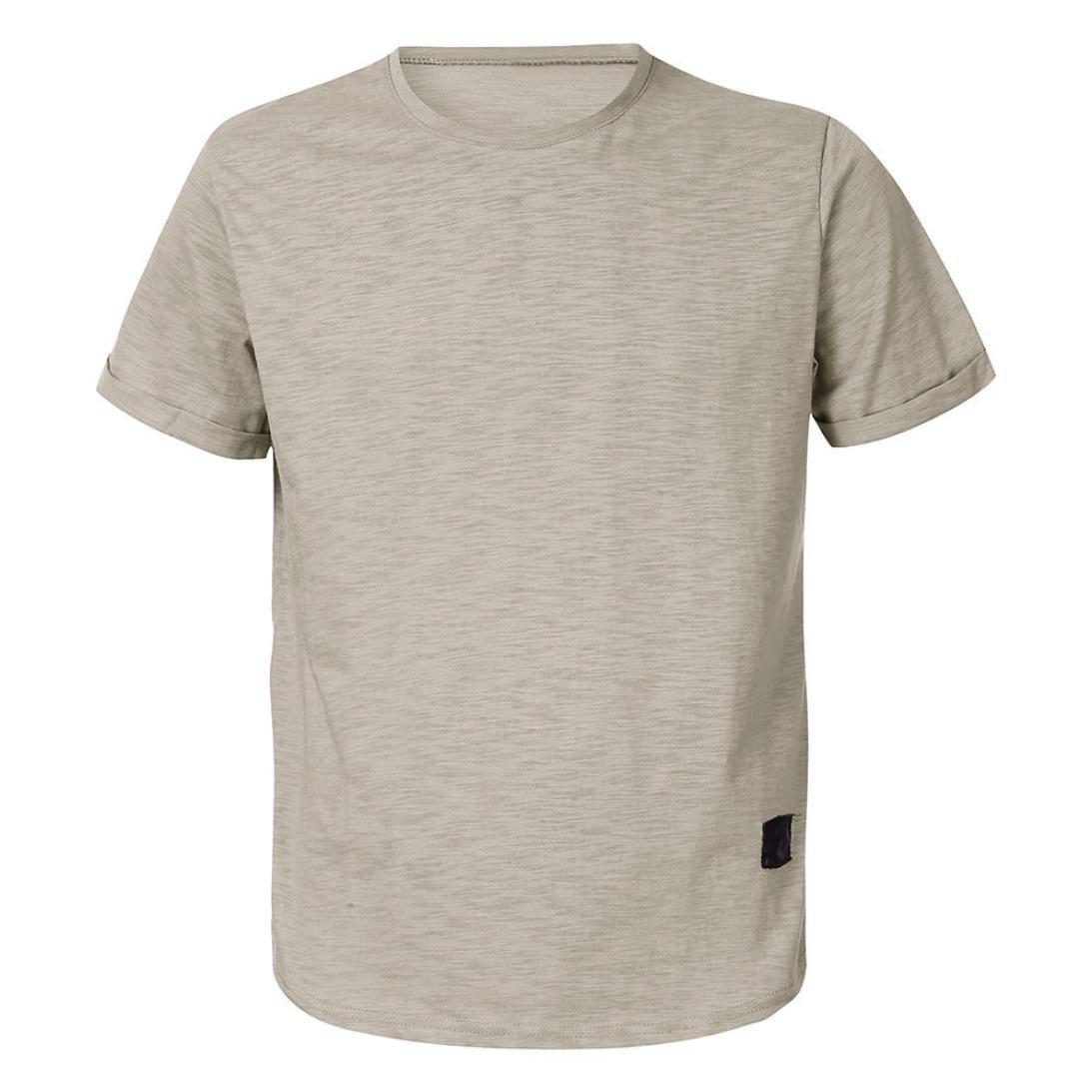 WWricotta Camisetas Hombre Manga Corta Color Puro Músculo Gimnasio Deporte Slim Fit Streetwear Camisas Casual Sudaderas: Amazon.es: Deportes y aire libre