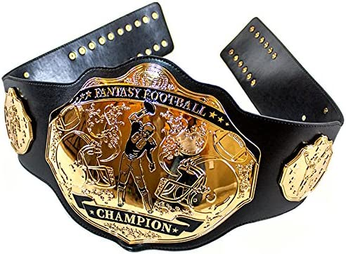 Amazon Com Undisputed Belts Fantasy Football Championship Belt Trophy Spike Black Gold Sports Novelty And Gag Gifts Sports Outdoors