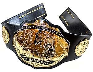 Fantasy Football Championship Belt Trophy - Spike (Black/Gold)