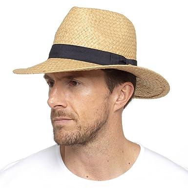 DINZIO Unisex Fedora Trilby Style Crushable Summer Hat  Amazon.co.uk ... 11ba1a10fbe