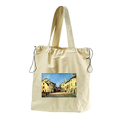 A Place In Argenteuil (Sisley) Canvas Drawstring Beach Tote Bag