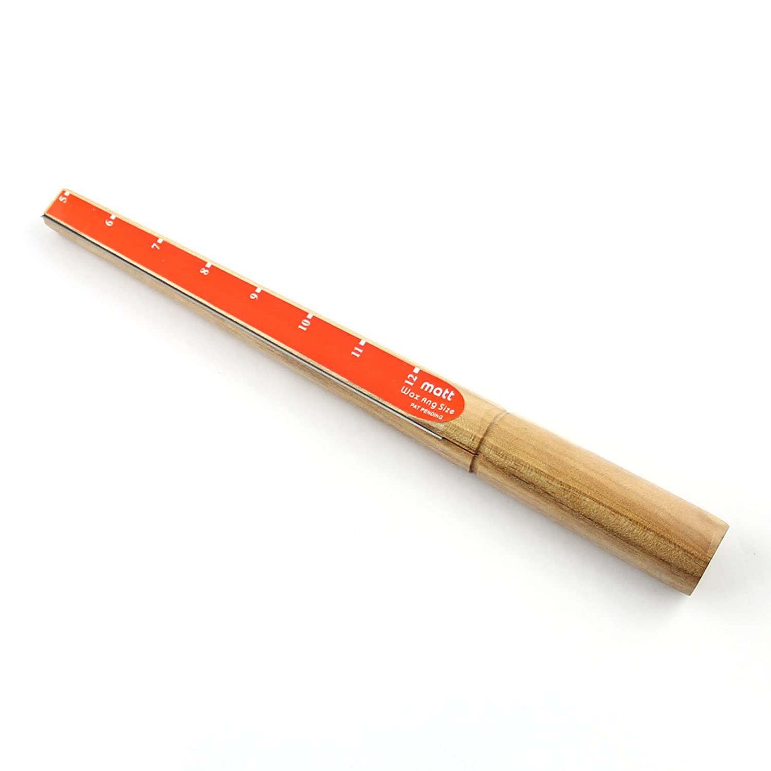 BODYA orange wood Removing Carve Ring Mandrel Stick Sizer Finger Sizing Measuring Stick - Size 5-12 Guage JW281